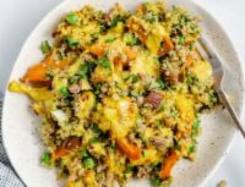 Roasted Carrot Cauliflower Grain Bowl